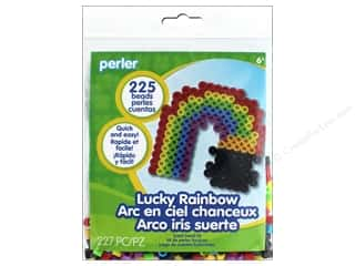 beading & jewelry making supplies: Perler Fused Bead Kit Trial Lucky Rainbow