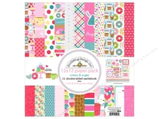 "White cardstock: Doodlebug Collection Cream & Sugar Paper Pack 12""x 12"""