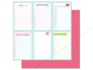 "Clearance: Doodlebug Collection Cream & Sugar Paper 12""x 12"" Love You Lots (25 pieces)"