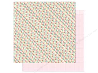 "Clearance: Doodlebug Collection Cream & Sugar Paper 12""x 12"" Bitsy Bouquet (25 pieces)"