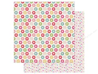 "scrapbooking & paper crafts: Doodlebug Collection Cream & Sugar Paper 12""x 12"" Donut Shoppe (25 pieces)"
