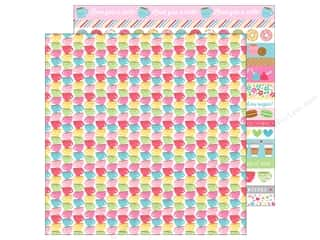 "Clearance: Doodlebug Collection Cream & Sugar Paper 12""x 12"" Tea Time (25 pieces)"