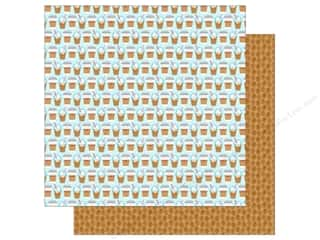 "Doodlebug Collection Cream & Sugar Paper 12""x 12"" Coffee Break"
