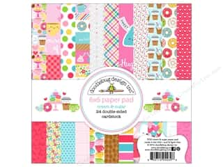 "Doodlebug Collection Cream & Sugar Paper Pad 6""x 6"""