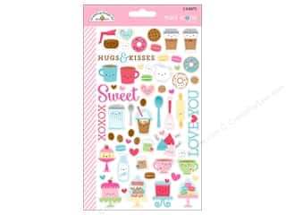 scrapbooking & paper crafts: Doodlebug Collection Cream & Sugar Sticker Mini Icons (12 sets)