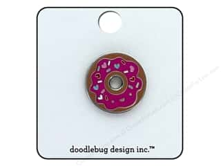 scrapbooking & paper crafts: Doodlebug Collection Cream & Sugar Enamel Pin Donut