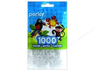 beading & jewelry making supplies: Perler Bead 1000 pc. Glitter Clear