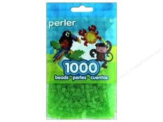 beading & jewelry making supplies: Perler Beads 1000 pc. Glitter Kiwi