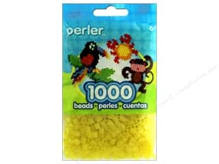 beading & jewelry making supplies: Perler Beads 1000 pc. Glitter Yellow
