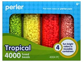 beading & jewelry making supplies: Perler Fused Bead Set 4000pc Tropical