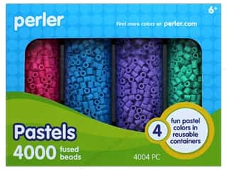 beading & jewelry making supplies: Perler Fused Bead Set 4000pc Pastels