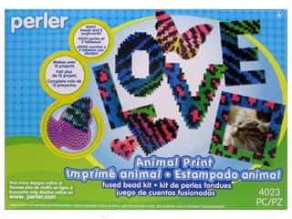 beading & jewelry making supplies: Perler Fused Bead Kit Deluxe Box Animal Print