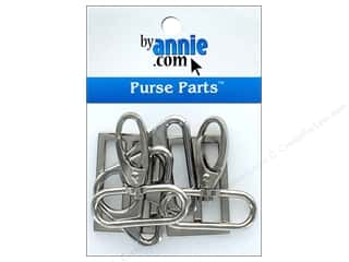 By Annie Purse Parts Hardware Set 1 1/2 in. Nickel 6 pc.