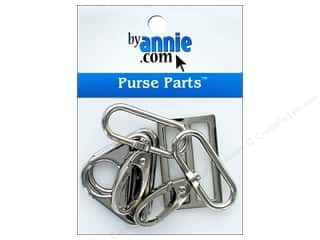 By Annie Purse Parts Hardware Set 1 1/2 in. Nickel 5 pc.