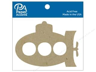 scrapbooking & paper crafts: Paper Accents Chip Shape Submarine Natural 6 pc