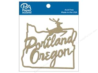Paper Accents Chip Shape Portland Sign Natural 4 pc