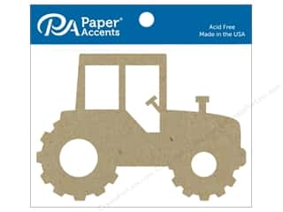 Paper Accents Chip Shape Tractor Natural 4 pc