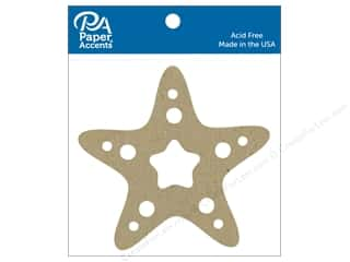 Paper Accents Chip Shape Starfish Natural 6pc