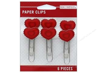 scrapbooking & paper crafts: K&Company Embellishments Paper Clips Red Heart