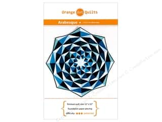 patterned paper : Orange Dot Quilts Arabesque With Foundation Paper Pattern