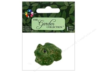 decorative floral: Midwest Design Garden Frog 1.5""