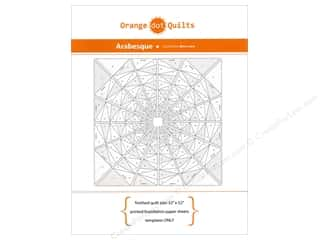 Quilting: Orange Dot Quilts Printed Foundation Paper Sheets Arabesque