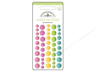 stickers: Doodlebug Collection Spring Thing Sprinkles Assortment Matte