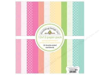 scrapbooking & paper crafts: Doodlebug Collection Spring Thing Paper Pack Assortment Petite Print