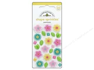 Doodlebug Collection Spring Thing Sprinkles Shape Pastel Posies
