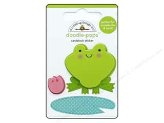 Doodlebug Collection Spring Thing Doodle Pops Froggy (12 sets)