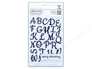 die cuts: Docrafts Xcut Large Die Alphabet Upper Case Script