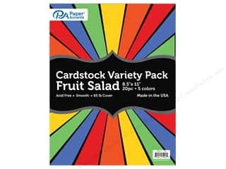 scrapbooking & paper crafts: Paper Accents Cardstock Variety Pack 8 1/2 x 11 in. Fruit Salad 20 pc.