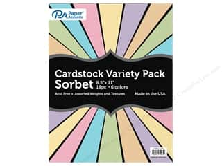 cardstock: Paper Accents Cardstock Variety Pack 8 1/2 x 11 in. Sorbet 18 pc.