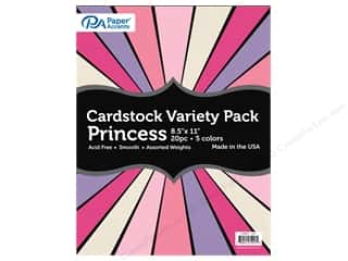 scrapbooking & paper crafts: Paper Accents Cardstock Variety Pack 8 1/2 x 11 in. Princess 20 pc.