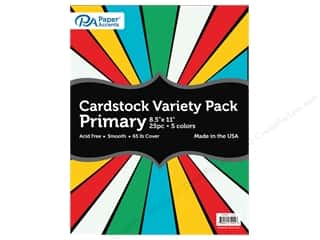scrapbooking & paper crafts: Paper Accents Cardstock Variety Pack 8 1/2 x 11 in. Primary 25 pc.