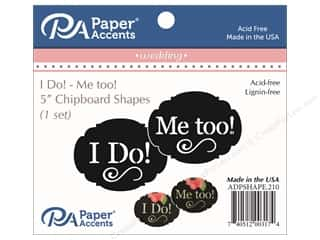 Clearance: Paper Accents Chipboard Shape I Do/Me Too 1 Set Black