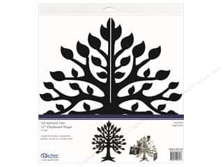 Chipboard: Paper Accents Chipboard Shape 1 pc. 12 in. 3D Stylized Tree Black