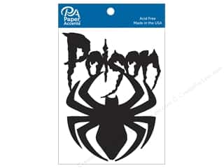 Paper Accents Chipboard Shape 4 pc. Poison Spider Black