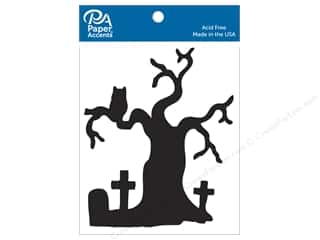 scrapbooking & paper crafts: Paper Accents Chipboard Shape 4 pc. Graveyard Tree Black