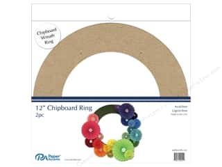 scrapbooking & paper crafts: Paper Accents Chipboard Shape  2 pc.12 in. Wreath Natural