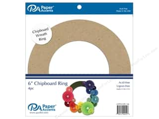scrapbooking & paper crafts: Paper Accents Chipboard Shape 4 pc. 6 in. Wreath Natural