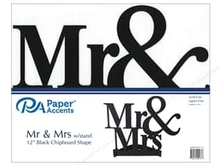 Paper Accents Chipboard Shape 1 pc. 11 in. Mr & Mrs Black