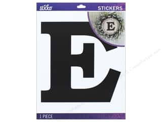 EK Sticko Stickers Jumbo Basic Black Monogram E