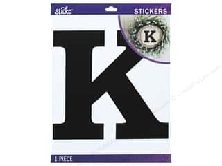 Clearance: EK Sticko Stickers Jumbo Basic Black Monogram K