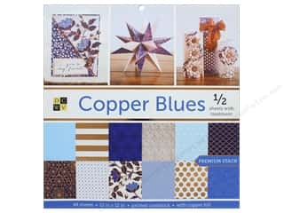 scrapbooking & paper crafts: Die Cuts with a View 12 x 12 in. Paper Stack Copper Blues