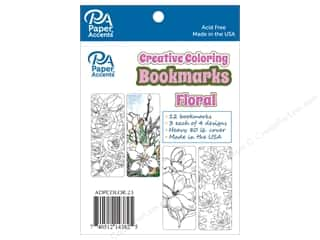 Paper Accents Creative Coloring Bookmarks 12 pc. Floral