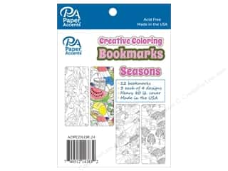 Paper Accents Creative Coloring Bookmarks 12 pc. Seasons
