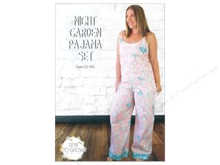 pajama: Sew To Grow Night Garden Pajama Set Size XS-4XL Pattern