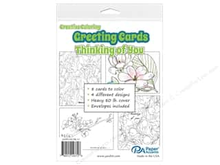 Paper Accents Creative Coloring Card & Envelopes 4 1/4 x 5 1/2 in. 8 pc. Thinking Of You