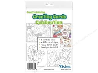 Paper Accents Creative Coloring Card & Envelopes 4 1/4 x 5 1/2 in. 8 pc. Celebration